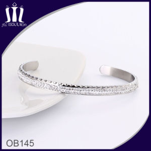 Simple Silver Pave Set Cz′s Cuff pictures & photos