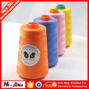 Custom Made Print Logo Hot Sale 100% Polyester Spun Yarn pictures & photos