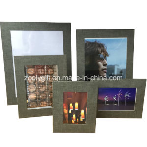 "8.5 X 11 "" Brown Textured Paper Leatherette Photo Frame pictures & photos"