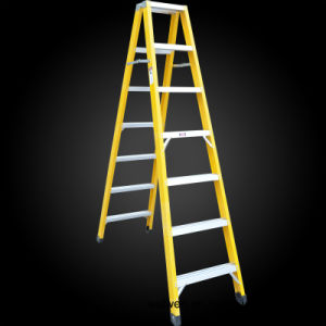 Factory Price Custom Made FRP 10 Step Foldable Ladder pictures & photos