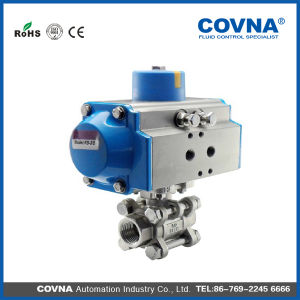 3 PCS 2 Way Stainless Steel 304 Air Control Pneumatic Ball Valve