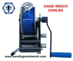 2000kg Hand Winch Strap/Webbing/ Rope 3speed- Boat Car Marine Trailer pictures & photos