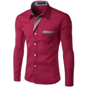 Brand New Men′s Business Casual Shirts Dresse Long Sleeve Shirts pictures & photos