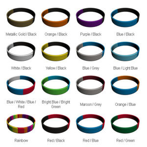Souvenirs Collecting Can Embossed Logo Silicone Bracelet pictures & photos