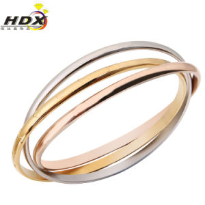 Fashion Jewelry Stainless Steel Three-Rings Bracelet pictures & photos