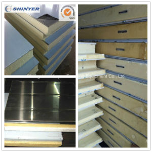 75mm Polyurethane PU Sandwich Panel with Stainless Steel Plate pictures & photos