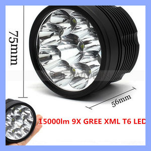 9 CREE Xml T6 15000lm 3 Mode Bike Front Light pictures & photos