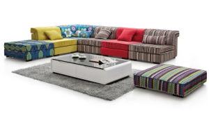 Lz002 Livign Room Furniture Modular Fabric Sofa Set pictures & photos