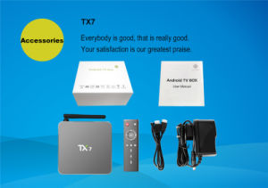 Android 6.0 2g 16g Smart TV Box Tx7 Quad Core Amlogic S905X Real 4k HDMI Output TV Box Media Player pictures & photos