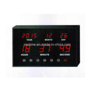 Electric LED Digital Wall Calendar Clock pictures & photos