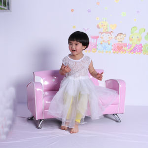 Double Seat PVC Leather Kids Sofa/Children Living Room Furntiure (SXBB-05) pictures & photos