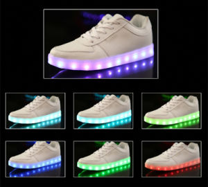 Wholesale 8 Color LED Shoes/Light up Shoes/Party Shoes with USB Recharge pictures & photos