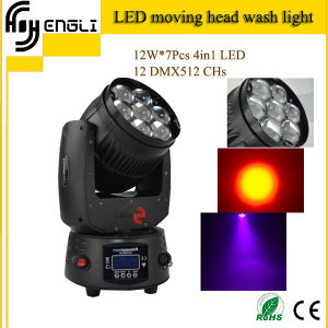 7*12W RGBW 4in1 LED Moving Head Wash Stage Lighting pictures & photos