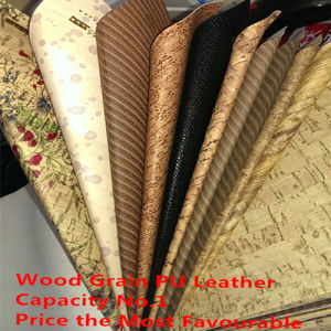 Woodgrain Synthetic PU Leather (HSM-HX14) pictures & photos