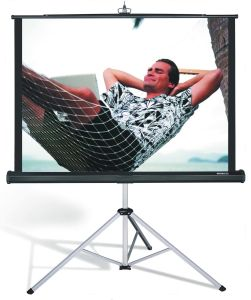 Matt White Floor Stand Tripod Portable Projector Screen pictures & photos