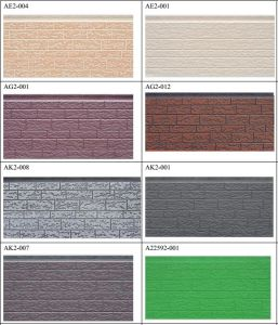 Brick Pattern Embossing Decorative Sandwich Panel with PU Foam pictures & photos