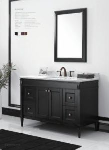 Wooden One Main Cabinet Mirrored Modern Bathroom Cabinet (JN-8819715C) pictures & photos