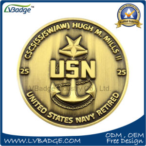 Zinc Alloy Us Navy Metal Coin for Promotion pictures & photos
