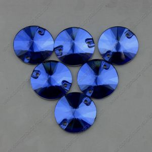 Round Back Silver Plating Glass Stone Flat Back (DZ-3041) pictures & photos