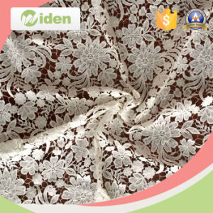 Lovely Embroidery Floral Figures Milky Poly Customized Guipure Lace Fabric pictures & photos