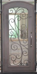 American Standard Wrought Iron Door Gates pictures & photos
