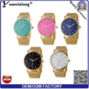 Yxl-642 Mesh Band Geneva Ladies Watches Made in China Cheap Price Colorful Watch Dial Design pictures & photos