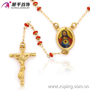Fashion Gold Rosary Beads Cross Jewelry Necklace--42528 pictures & photos