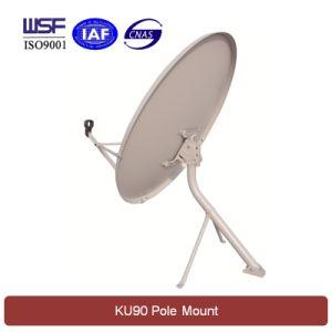 Ku 90cm Satellite Dish Antenna (Pole Mount) pictures & photos