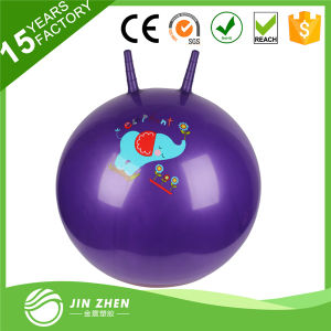 Exercise Hopper Ball with Two Sticks for Children pictures & photos