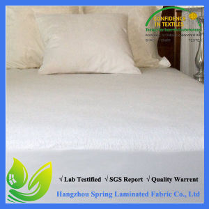 100% Cotton White Elastic Terry Clothing Mattress Protector pictures & photos