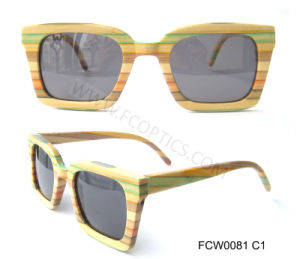 Colorful Wooden OEM Fashion Sunglasses Meet UV400 Standard pictures & photos