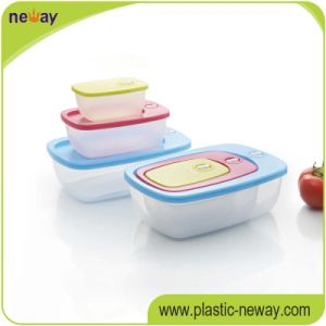 Foodgrade Microwave Airtight Plastic Lunch Box pictures & photos
