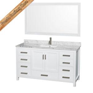 Fed-1913 Floor Mounted Solid Wood Bathroom Cabinet Bathroom Vanity pictures & photos