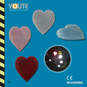 CE En13356 Reflective Heart Clip, Reflective Bicycle Wheel Clip for Personal Safey at Night pictures & photos