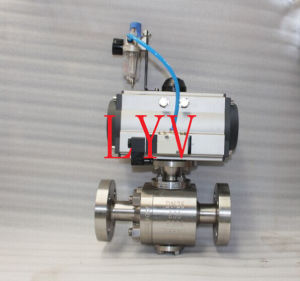Pneumatic Flanged Stainless Steel Ball Valve