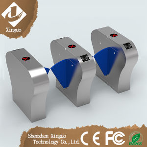 304 Stainless Steel Flap Wing Barriers Turnstile with RFID Reader pictures & photos