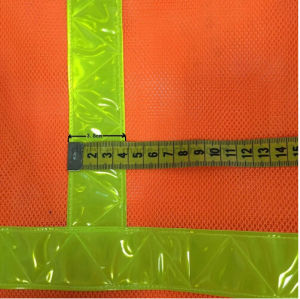 Hi-Vis Safety Vest with Reflective Cross Tape (DFV1074) pictures & photos
