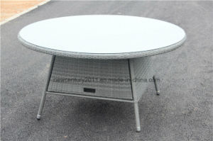Outdoor Rattan Garden Wicker Big Round Dining Table and Chair pictures & photos