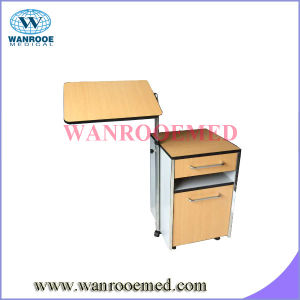Bc010e Wooden Hospital Beside Locker with Over Bed Table pictures & photos