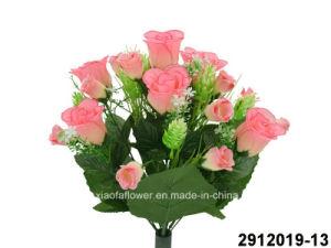Artificial/Plastic/Silk Flower Rosebudl Bush (2912019-13) pictures & photos