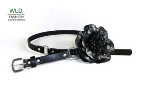 Flower Lady′s Fashion PU Belt (KY5093-1) pictures & photos