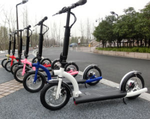 300 W Foldable Electric Scooters with Lithium Battery pictures & photos