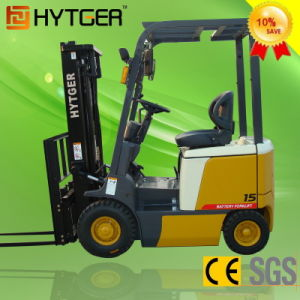Hytger Brand Electric Forklift 1.5 Ton pictures & photos