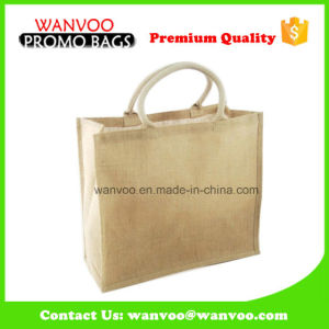 Custom Logo Nature Recycle Jute Shopping Bags Wholesale pictures & photos