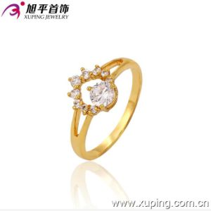 Xuping Fashion Engagement 24k Gold Plated Exquisite Gemstone Ring pictures & photos