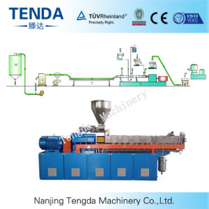 Tsh-40 Tenda 65kw Masteratch Granulating Plastic Twin Screw Extruder pictures & photos