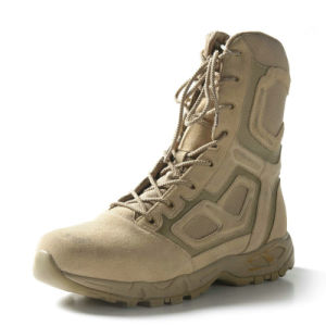 Wearing-Resisting Flame Retardant 2016 Military Desert Boots pictures & photos
