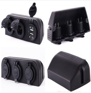 Three Marine Cigarette Lighter Splitter Power Adaptor Sockets & USB Charger pictures & photos