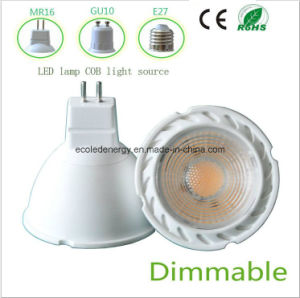 High Qiality Dimmable 5W GU10 COB LED Light pictures & photos