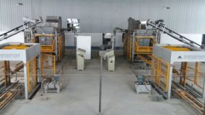 Simple Automatic Block Production Line (Double Lines) pictures & photos